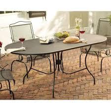 jackson oval patio dining table backyard wrought iron frame seats 8 people