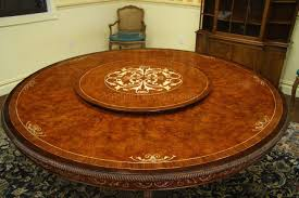 round dining table with lazy susan built in
