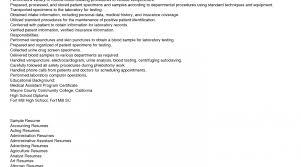 Phlebotomy Resume Templates Job Description Of A Phlebotomist On Resume Phlebotomy Resume 15