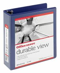Office Depotr Brand Durable D Ring View Binder 3in Rings 60 Recycled Blue