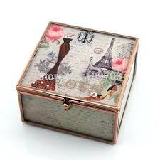glass trinket box new design wedding gifts style glass trinket box glass jewelry box a personalised