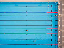 swimming pool lane lines background. Top View Of Swimming Pool Stock Photo Lane Lines Background