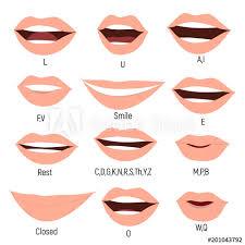 Female Mouth Animation Phoneme Mouth Chart Alphabet