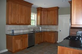 Natural Cherry Cabinets Decorating Finest Kitchen With Catchy Look By Admirable Shaker