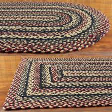 primitive braided area rugs country oval rectangle 20x30 up to 8x10 by ihf com