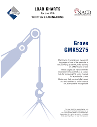 Grove Gmk 5250 Load Chart Grove Gmk5275 Manualzz Com