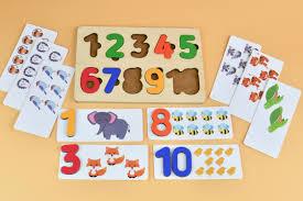 <b>Рамка</b>-<b>вкладыш Цифры</b> с карточками | malishatki