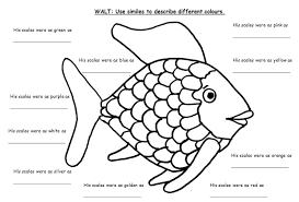 The Rainbow Fish Writing Frames And Worksheets Primary Free Printable