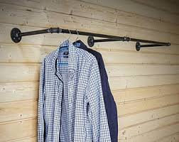 Coat Rack Attached To Wall Clothing rack Etsy 98