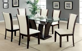 chair round glass dining table and 6 chairs ciov intended for glass dining table for