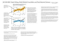 home back fitting multi model ensembles post normal science