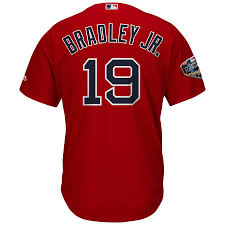 Boston Jersey Jr Jackie Scarlet Series Red 2018 Cool World Sox Majestic Base Bradley Player fdeacca|Chad Finn's Touching All The Bases