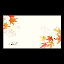 Fall Place Cards Place Cards Autumn Leaves Premium