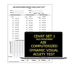 Aib Computerized Dynamic Visual Acuity Test Cdvat