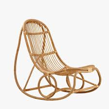 nanny natural rattan rocking chair
