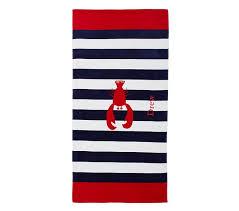 Pottery Barn Kids Lobster Beach Towel Best Beach Towels POPSUGAR
