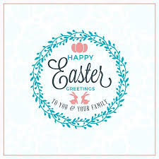 Easter Greeting Card Template Beauteous Happy Easter Vector Vintage Holiday Badge Vector Template For
