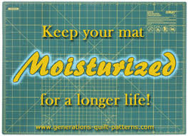 Olfa Cutting Mat / Rotary Cutting Mat & Tips to keep your mat moisturized Adamdwight.com
