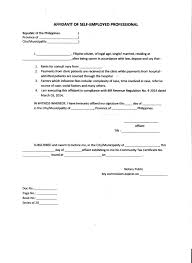 Perfect Sample Of Affidavit Of Self Employed Professional Template