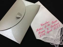 personalised handkerchief bride wedding mother gift