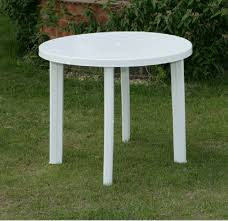 brilliant plastic patio tables white table and outdoor