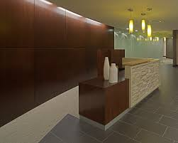 Reception Desk / Ceramic Tile / Pendant / Glass / Curved Wall #SchottDesign