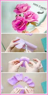 Easy Paper Flower Simple Paper Flowers Sugar Bee Crafts