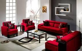 Red Living Room Interior Design Ideas Black Furniture