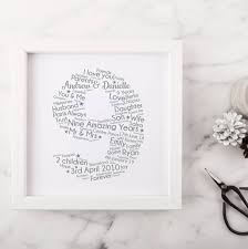 personalised 9th wedding anniversary gift