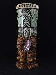 "Beachbumz ""Tahiti Felix"" Drum Tiki Mug, Custom Glaze Edt, Made on Maui |  #1830899366"