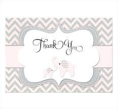 Thank You Template 8 Shower Cards Design Templates Free Menu Card
