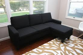 cheap sectional sofas. A Rich Black Cloth Sectional With Sleek Modern Silhouette. Perfect For Modestly Sized Cheap Sofas T