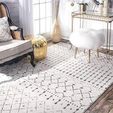 nuloom modern moroccan trellis carpet cream runner rug grey 81 x 244 cm b01dw94rl8