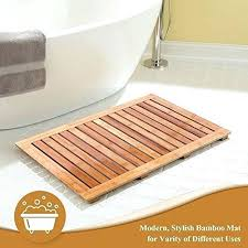 shower floor mat bamboo bath mat shower floor mat non slip made of natural bamboo shower