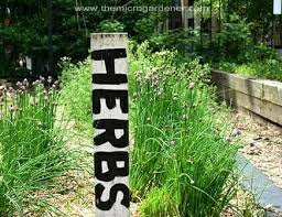wooden herbs plant marker the micro gardener