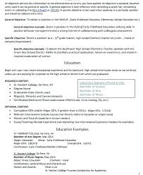 Objective Teacher Resume Early Childhood Education Resume Objective ...