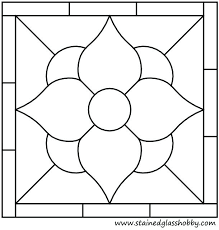 Easy Stained Glass Patterns Awesome Easy Stained Glass Patterns Square Panel Flower Stained Glass