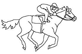 Race Horses Color Pictures Print Coloring Pages 1