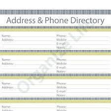Address Book Template Printable List Wedding Guest Threestrands Co
