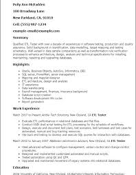 Etl Tester Resume Sample. Etl Tester Resume Manual 2 Btester 2 ...