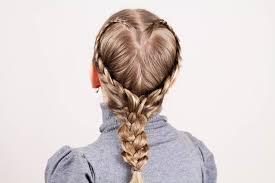 Детская прическа в виде сердечка. Kid Hairstyle Like a Heart ...