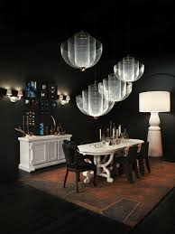 paper sideboard paper wall lights paper dining table all in white with meshmatics chandeliers farooo large floor lamp and monster chairs with special