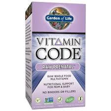 best gluten free garden of life vitamin code raw prenatal multivitamin