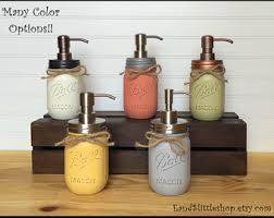 dog faces ceramic bathroom accessories shabby chic: mason jar soap dispenser rustproof stainless steel soap pump amp lid rustic shabby chic decor home decor housewarming gifts country decor