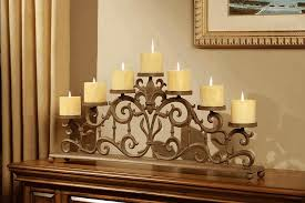 fireplace mantel candle holders
