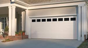 clear garage doorsGarage Door  Traditional Short Panel with Clear Windows White