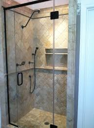 revolutionary bronze shower door frameless in oil rubbed kerabath com blog