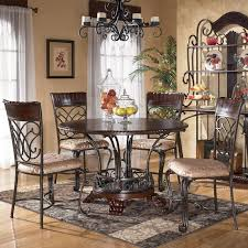 astounding ashley furniture alyssa 5 piece round dining table side chair in