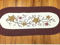 primitive rugs with stars bathroom awesome country amp berries braided runner folk