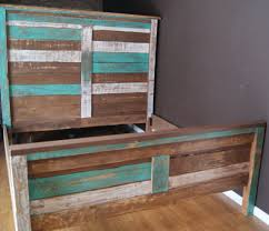 beach looking furniture. Shabby Chic Reclaimed Queen Bed Set By Furniture Farm Beach Style Beds Looking W